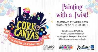 Cork & Canvas – Painting with a Twist 2nd April