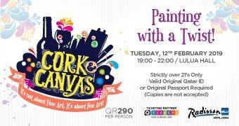 Cork & Canvas – Painting with a Twist 12th Feb