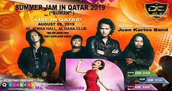 Summer Jam in Qatar 2019 (Buwan) with Juan Karlos & Kat Velarde