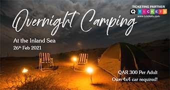 Overnight Camping at Inland sea