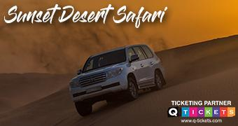 Sunset desert safari