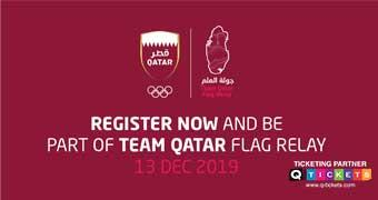 Team Qatar Flag Relay 2019