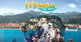 MANOU THE SWIFT (ANIMATION) -Movie banner