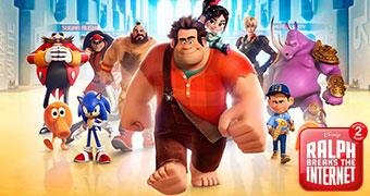 RALPH BREAKS THE INTERNET WRECK IT RALPH 2 (ANIMATION) -Movie banner